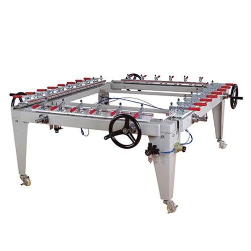 机械链条式绷网机